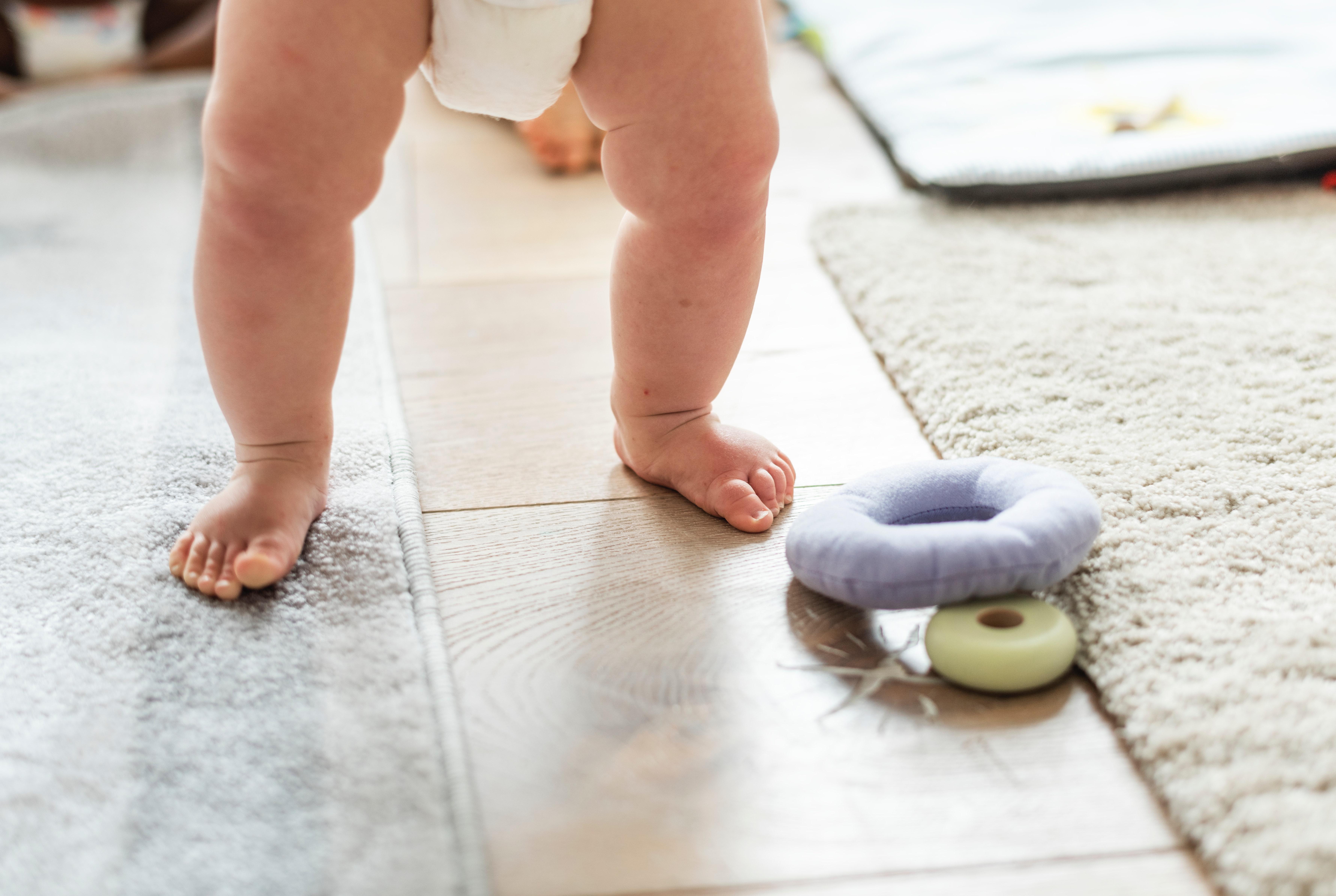 Baby wearing diaper